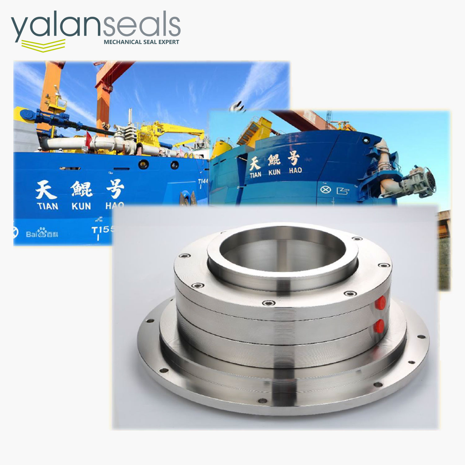 SBB Cartridge Mechanical Seal for Dredgers (the Biggest Dredger Ship in Asia, Tian Kun Hao)